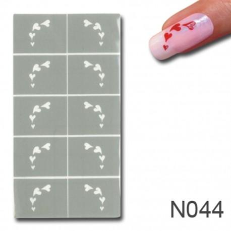 Smart Nails Nagellack Schablone 44
