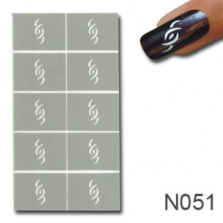 Smart Nails Nagellack Schablone 51