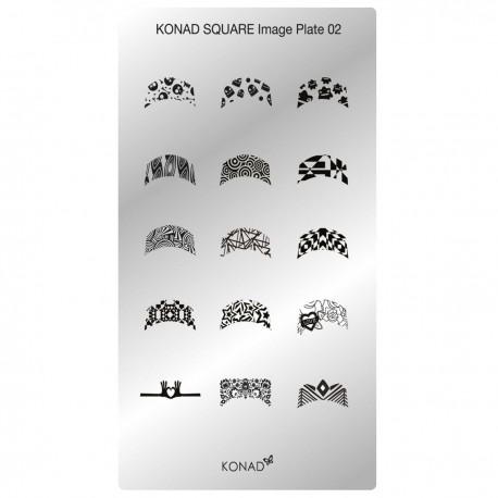 Konad Schablone XL Square 02