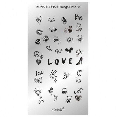 Konad Schablone XL Square 03