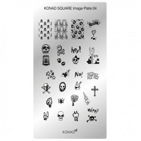 Konad Schablone XL Square 04