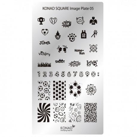 Konad Schablone XL Square 05