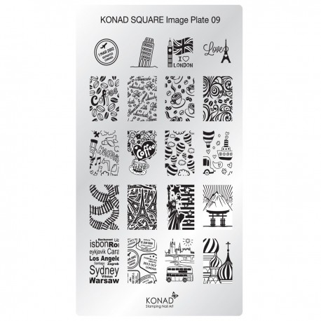 Konad Schablone XL Square 09