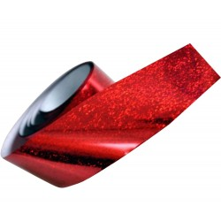 Magic Nails Transferfolie red-glitter