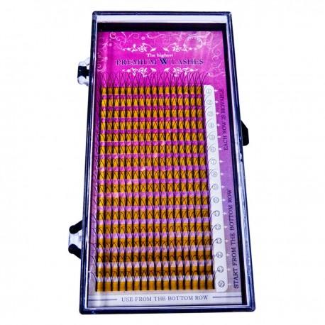 Premium Wimpern Silk Lashes W-C-Curl  0.15