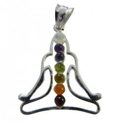 Chakra Anhänger Buddah silber