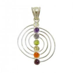 Chakra Anhänger Spirale silber