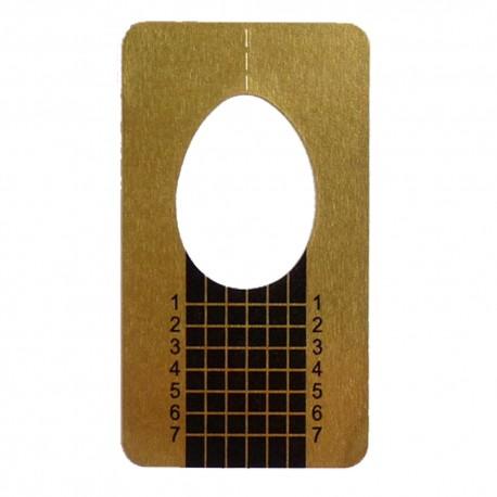 Modellierschablonen gold Gel Acryl Nailart