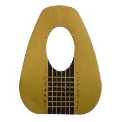 Modellierschablonen breit gold Gel Acryl Nailart